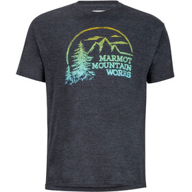 Marmot Halation t-shirt Heren grijs/zwart